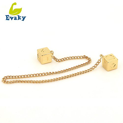 Evaky Han Solo Star Wars Lucky Charm Dice Prop-Dice with Link Chain Star Wars Sabacc Gold Millennium Falcon (Gold)