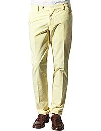 RENÉ LEZARD Herren Hose Baumwolle Freizeithose Unifarben, Größe: 102, Farbe: Gelb