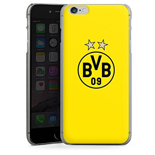 Apple iPhone 7 Hülle Premium Case Cover BVB Borussia Dortmund Sterne Hard Case anthrazit-klar
