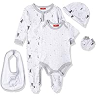 Lilly And Jack Little Dreamer Monochrome Style Clothes for Baby Girls, 3-6 Months - Black, Pack of 5