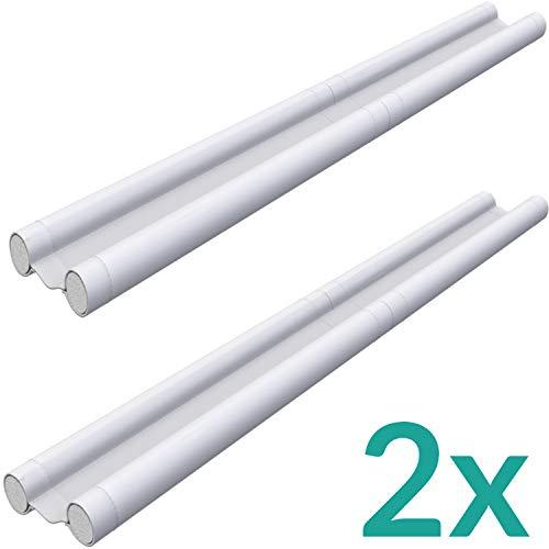Zugluftstopper für Türen Weiß 2er Set - Zuschneidbar - Doppelseitige Schutz vor Zugluft - Türdichtung