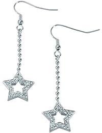 Miabelle Damen-Ohrringe Stern-Form Diamanten Swarovski Steine - MB1004G