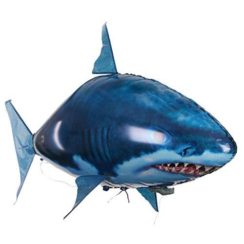 Fernbedienung Fliegender Fisch Hai Clownfish Spielzeug, Groß Fernbedienung Antenne Fisch Kind Spielzeug, Aufblasbar Weihnachten Geburtstag DIY Geschenk Kunststoff Aufblasbarer Ballon Spielzeug,A,F