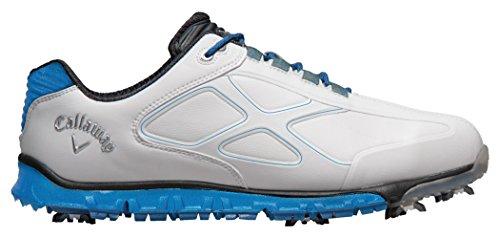 Callaway Xfer Pro chaussures de golf pour homme, Blanc/bleu