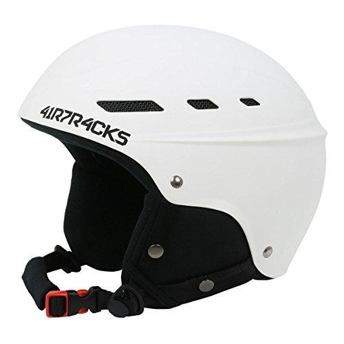 """AIRTRACKS Ski- und Snowboardhelm """"MASTER"""" mit Ventilationssystem und stufenloser Anpassung - weiß - M"""