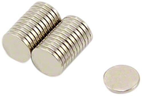First4magnets F322-N35-25 8mm Durchmesser x 1mm dicken N35 Neodym-Magneten - 0,39 kg ziehen (Packung mit 25), silver, 25 x 10 x 3 cm, Stück