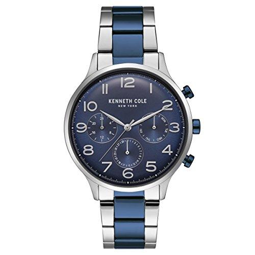 da07cbc686f5 Kenneth Cole New York Hombre Reloj de pulsera analógico cuarzo acero  inoxidable kc15185003 ...