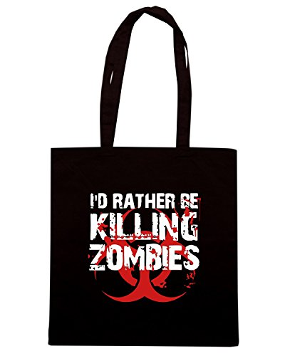 T-Shirtshock - Borsa Shopping TZOM0046 rather kill zombies Nero