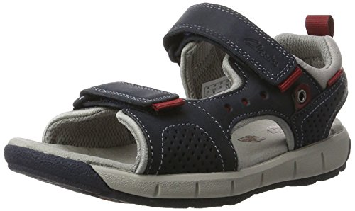 Clarks Jungen Jolly Wild Jnr Slingback, Blau (Navy Leather), 33 EU
