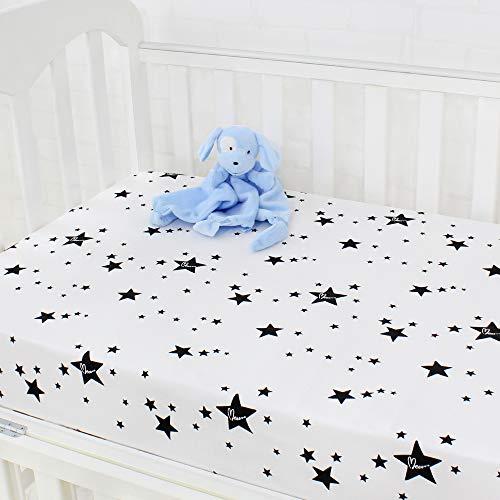 LifeTree Spannbetttücher für Kinderbetten 120 x 60 cm, 100% Baumwolle Weiche Spannbetttuch für das Kinderbett/Babybett
