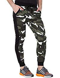 Fflirtygo Men's Cotton Army Track Pants, Joggers for Men, Men's Leisure Wear, Lower for Sports Gym Athletic Training Workout