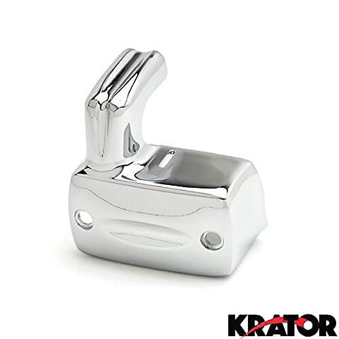 Krator® Honda Shadow/VTX/VLX Chrome avant liquide de frein Maître Cylindre Coque Bouchon de réservoir (1988–2013)