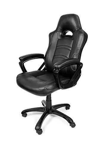 Arozzi ENZO-BK Gaming Stuhl, Lederimitat, schwarz, 51 x...