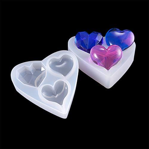 Finelnno 1 Stück Silikonform Herzform Silikon Epoxy Resin Mold Anhänger Halskette Basteln Schmuck DIY Basteln (1 x Silikonform)
