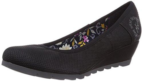 s.Oliver 22303, Chaussures à talons - Avant du pieds couvert femme Noir - Noir