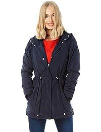 ddb1944f1 Roman Originals Women Zip Pocket High Neck Parka Coat - Ladies Smart Casual  Everyday Hooded Toggle