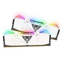 Patriot Memory Viper RGB RAM DDR4 3200 16Go (2x8Go) C16 Kit de Mémoire Haute Performance Eclairage RGB - Blanc
