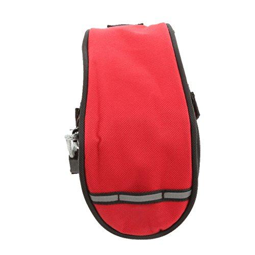 Satteltasche Fahrradsattel Tasche Sitz Aufbewahrungstasche Rot