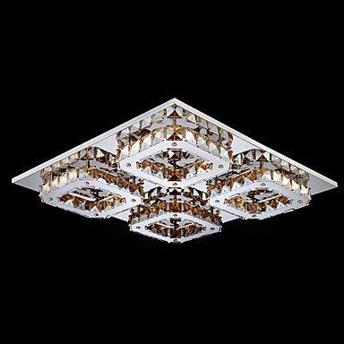 UMEI ™ conduit cristal encastré, 4 lumière, ambre moderne galvanoplastie acier inoxydable , 110-120v