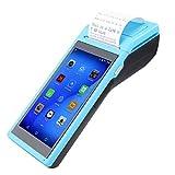 Lazmin Stampante per ricevute Portatile Wireless 58MM, Stampante Termica per Banconote Bluetooth Compatibile con Android e iOS 3G Quad Core 1 + 4G Blu(UE-Plug)
