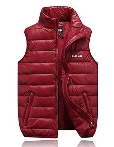 ZEARO Doudoune Ultra Legere Homme pour Hiver - Manteaux sans Manches Chaud - Blouson Jacket Decontracte - 4 Couleurs
