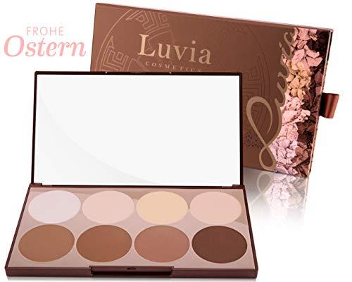 Luvia Contouring Palette - Prime Contour Mit Extra Leicht Verblendbarem Setting Powder, Bronzer, Kontur Puder Und Highlighter Make-Up Für Jeden Hauttyp - Geschenk für Frauen