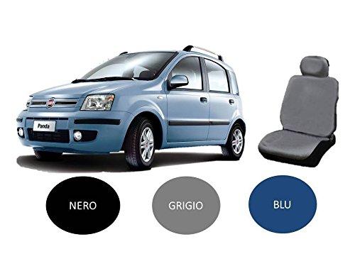 X-ONE ACCESSORI COPRISEDILE Set Completo su Misura per Fiat Panda 2003-2004 - 2005-2006 - 2007-2008 - 2009-2010 - 2011 Completo di POGGIATESTA (Blu)