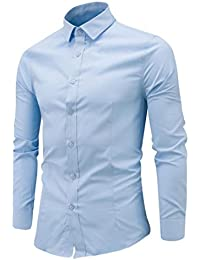 Culater Camisas Manga Larga Hombre Formales Classich Slim Fit Shirts