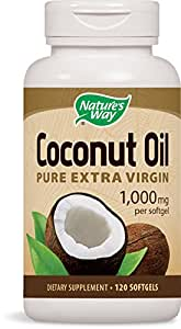 Nature's Way Coconut Oil Capsules - Pack of 120