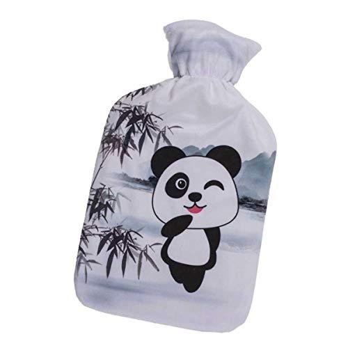 1 x wunderschöne große Wärmflasche, Panda, Volumen ca. 1,7 l aus Polyester/Kautschuk,