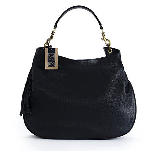 OH MY BAG Sac à Main cuir femme - Modèle Marceau Nouvelle collection BLEU FONCE