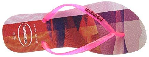 Perizoma Donna Havaianas Slim Paisage Rosa (crystal Rose 1141)