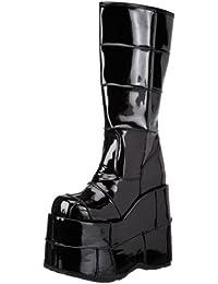 Pleaser Men's Stack-301 Platform Boot Black Patent 5 D(M) US