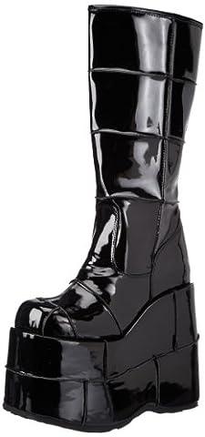 Pleaser Men's Stack-301 Platform Boot,Black Patent,6 M US