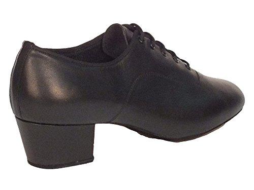 Scarpa da uomo per ballo latino americano in nappa nero Nero