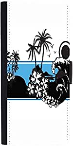 Snoogg Abstract Tropical Background Graphic Snap On Hard Back Leather + Pc Fl...