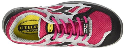 Diadora Herren Stan Smith Sneaker Low Hals Elfenbein (Rosa Brillante/grigio)