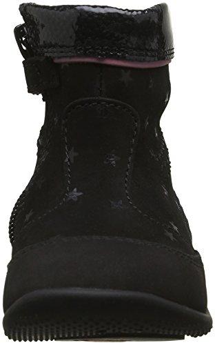Kickers Bigaro, Chaussures Premiers Pas Bébé Fille Noir (Noir/Etoile)