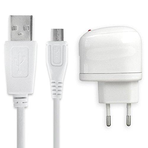 subtel® Qualitäts Ladekabel - 1m (1A) für bq Aquaris V, V Plus, U2, U2 Lite, X5, X5 Plus, X5 Cyanogen, E5 HD, E5 FHD, E6, E4.5, A4.5, U, U Plus (5V/Micro USB) Ladegerät Netzteil Charger Weiß