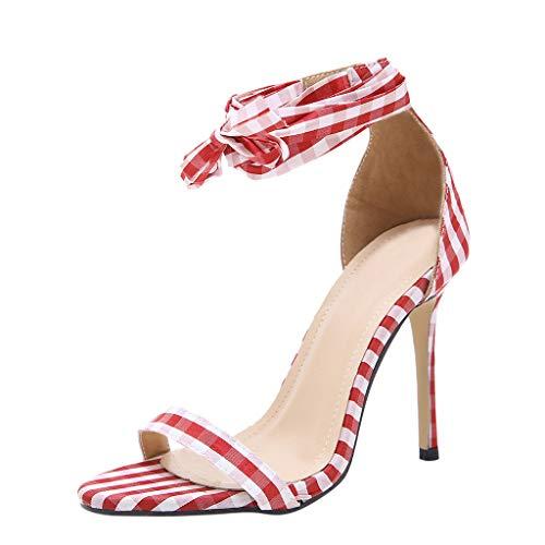 Dorical Sexy Sandali con Tacco Alto con Fibbia per Cintura Scarpe col a Tacchi Alti Donna da Donna da Estate Zeppe Donna Estive Eleganti Alte griglia