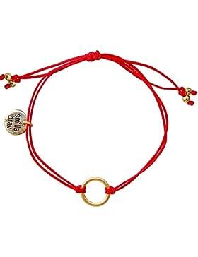 Smilla Brav Karma Kreis-Damen-Armband GOOD KARMA - rot / gold - DS39