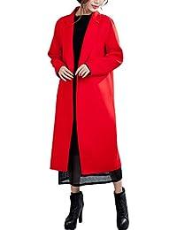 Youlee Donna Inverno Solido Colore Cachemire Cappotto Lana Cappotto be83998e100