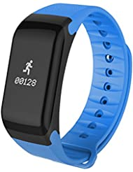 DXable Smart-Band Blutdruck beobachten F1 Smart-Armband-Uhr-Puls-Monitor-SmartBand Wireless-Fitness für Android IOS Phone