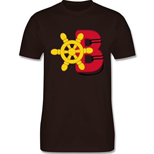 Anfangsbuchstaben - B Schifffahrt - Herren Premium T-Shirt Braun