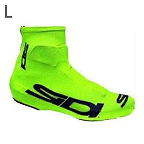 wlgreatsp Fahrrad-Schuh-Abdeckung Verschleißfest, rutschfest Wasserdicht Mehrere Farben erhältlich: Weiß/Schwarz/Grün/Blau R
