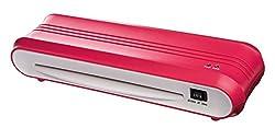 Genie F9011 Laminiergerät (bis DIN A4 für Heißlamination, Inkl. Laminerfolien) rot
