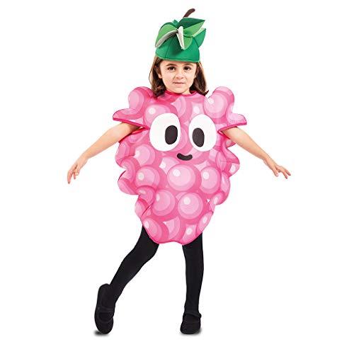 Weintraube Kostüm - EUROCARNAVALES Kinder Kostüm Früchtchen 3-4 Jahre Frucht-Verkleidung Obst (Weintraube)