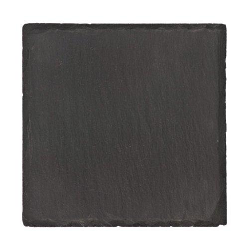 Denby Lifestyle Untersetzer aus Granit, mit rauen Kanten, 9,5x9,5cm, 4Stück