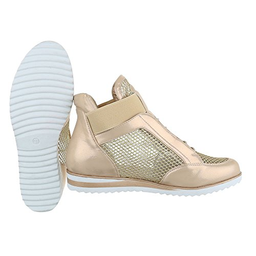 Ital-Design , Chaussons montants femme Or