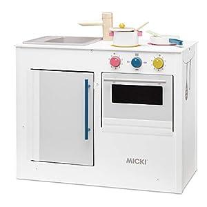 Micki 10-2169-00 - Cocina de Juegos, Color Blanco Rosa. Azul.Amarillo